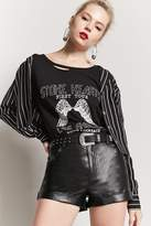 Forever 21 Cuffed Faux Leather Shorts