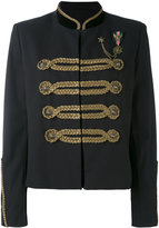 The Kooples braid embellished cropped jacket - women - Cotton/Polyamide/Polyester/Acetate - 38