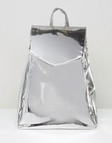 Asos Metallic High Shine Backpack