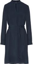 A.P.C. Belted Plissé-Silk Dress