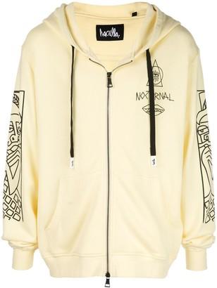 Haculla Guy And His Gun zip front hoodie