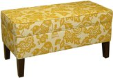 Skyline Furniture Modern Upholstered Storage Bench in Canary