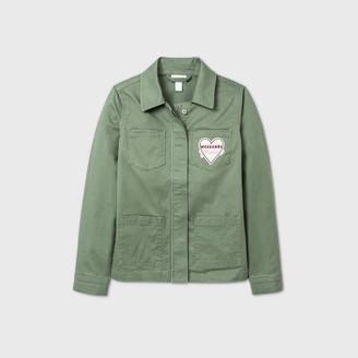 Cat & Jack Girls' Patch Utility Shirt Jacket - Cat & JackTM