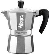 Bialetti Allegra Coffee Maker, Silver, 3 Cup