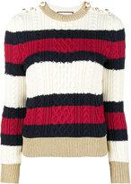 Gucci knitted web striped jumper - women - Polyamide/Spandex/Elastane/Viscose/Metallic Fibre - XXS