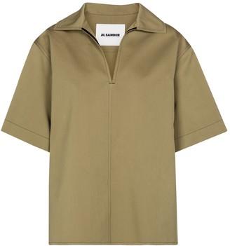 Jil Sander Cotton and silk blouse