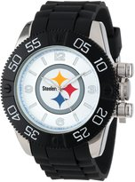 Game Time Men's NFL-BEA-PIT Beast Round Analog Watch
