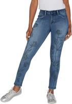 Laurie Felt Silky Denim Water Paint Skinny Pull-On Jeans