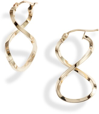 Bony Levy Open Twist Hoop Earrings
