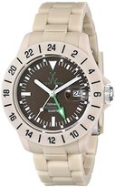 Toy Watch Unisex TOYJET06SY Jet Lag Analog Display Swiss Quartz Beige Watch