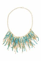 GUESS Turquoise Seed Bead Fringe Necklace
