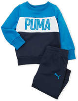 Puma Infant Boys) Two-Piece Fleece Striped Sweatshirt & Pants Set
