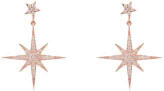 Petite Star Burst Drop Earring Rosegold
