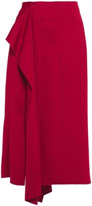 Joseph Renne Tie-front Satin-crepe Midi Skirt