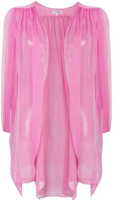 Saint Laurent Pre-Owned gathered sheer open blouse