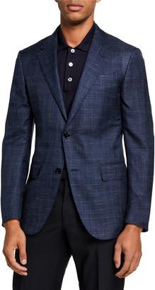 Ermenegildo Zegna Men's Plaid Cashmere-Blend Sport Jacket