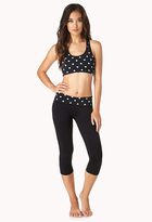 Forever 21 Medium Impact - Reversible Heart Print Sports Bra