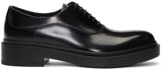 Giorgio Armani Black Vintage-Style Oxfords