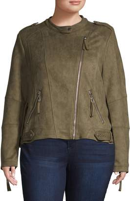 Molly Bracken Plus Long-Sleeve Moto Jacket