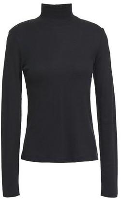 Rag & Bone Kari Ribbed Cotton And Modal-blend Jersey Turtleneck Top