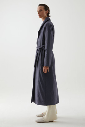 Cos Recycled Polyamide Padded Oversized Belted Coat