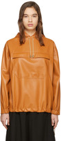 Nanushka Orange Vegan Leather Arno Anorak