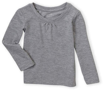 French Toast (Infant Girls) Cinched Long Sleeve Tee