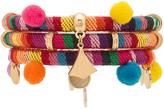 Ettika Dahl Multi Pom Pom Bracelet