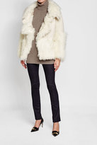 Roberto Cavalli Jacket with Cotton, Mohair, Alpaca, Wool and Shearling