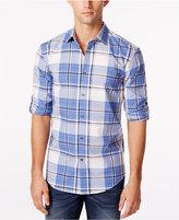 Alfani Men's Big & Tall Slim-Fit Cordoba Plaid Shirt, Only at Macy's