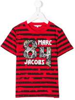 Little Marc Jacobs 84 patch logo striped T-shirt
