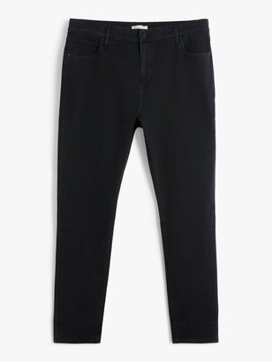 Levi's Plus 721 High Rise Skinny Jeans, Long Shot Black