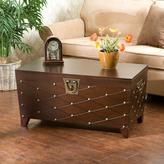 Home Decorators Collection Nailhead Trunk Wooden Espresso Cocktail Table
