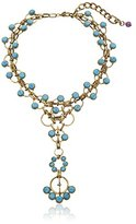 """m. haskell Purple by Riviera"""" Turquoise Faceted Bead Y-Shaped Necklace, 14''+3'' Extender"""