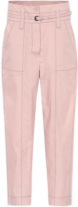 Bottega Veneta High-waisted cotton pants