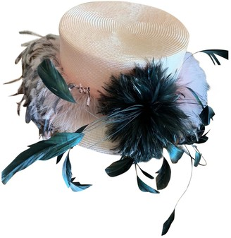 Philip Treacy Pink Wicker Hats