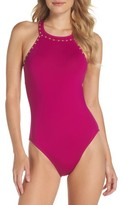 LaBlanca Women's La Blanca Deco Studded One-Piece Swimsuit