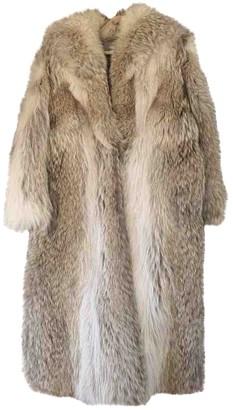 Saint Laurent Beige Fur Coats
