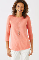 J. Jill Breezy Linen & Cotton Pullover