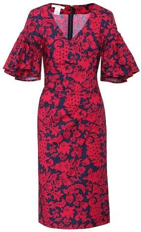Oscar de la Renta Floral-printed cotton dress