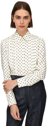 Gabriela Hearst Lvr Sustainable Polka Dot Twill Shirt