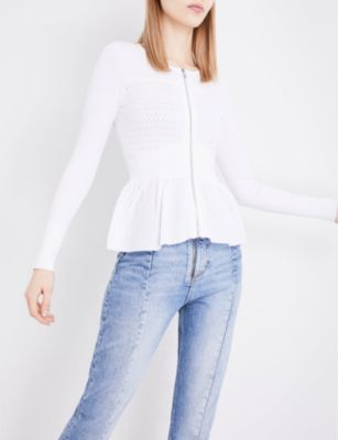 Sandro Lace-pattern knitted cardigan