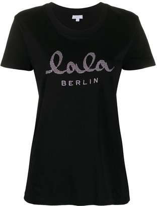 Lala Berlin logo embroidered T-shirt