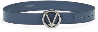 Mario Valentino Giusy Leather Logo Belt