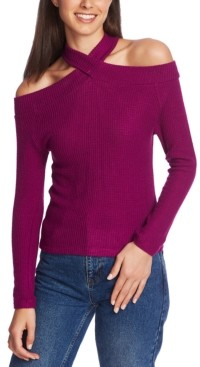 1 STATE 1.State 1.state High-Neck Cold-Shoulder Top