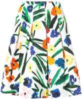 Oscar de la Renta floral full skirt
