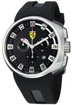 Ferrari Men's Podium Black Fiber Dial Chronograph Quartz Watch