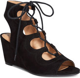 American Rag Suriya Lace-Up Demi Wedge Sandals, Created for Macy's Women's Shoes