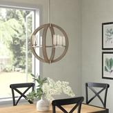 Laurèl Christenson 4-Light Candle Style Globe Chandelier Foundry Modern Farmhouse