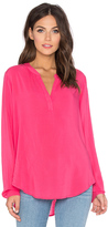 Velvet by Graham & Spencer Rosie Long Sleeve V Neck Blouse
